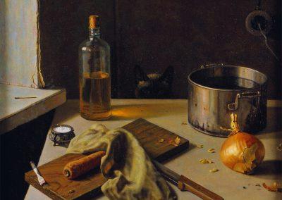"Bagrinovsky ""Still Life with Cat (Lenten Day)"" 1989"