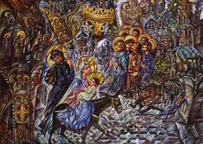 """Kalinin """"Flight into Jerusalem"""" 1990"""