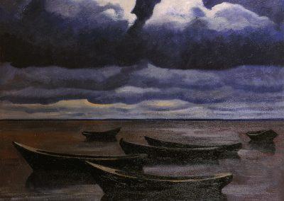 """Ossovsky """"Clouds Over Boats"""" 1988"""