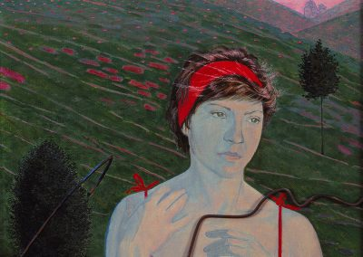 "Pimenov ""Young Woman in Red"" 1988"