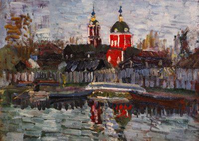 """Sorokin """"Church on the River Trubish"""" 1983"""